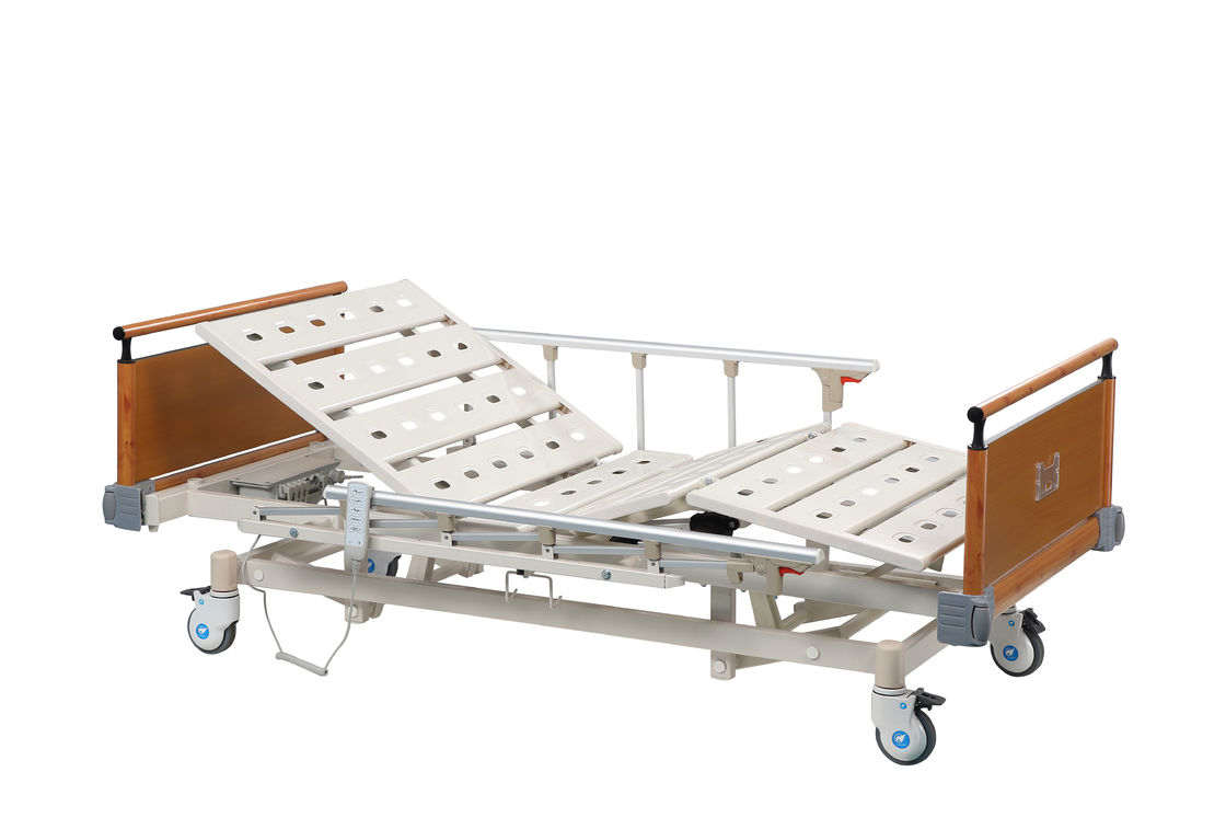 Adjustable Luxurious ICU Hospital Bed / Medical Patient Bed with Steel Bedboards