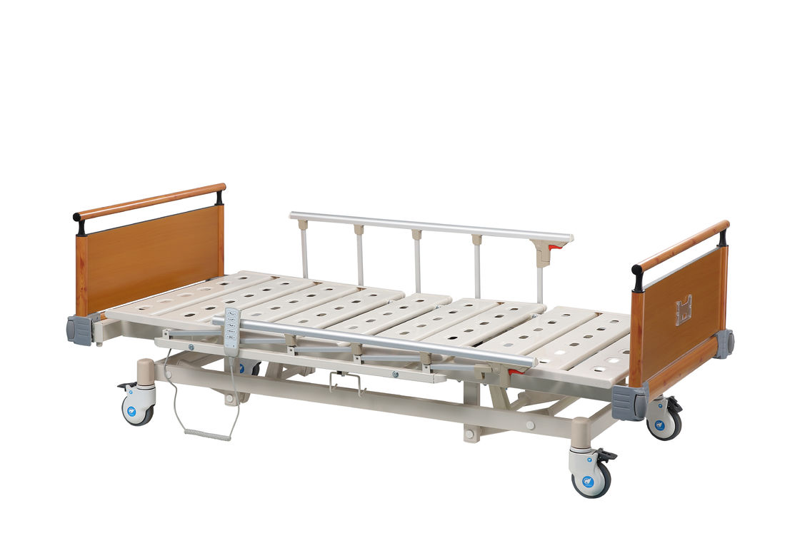 Five - Function Electric Medical ICU Hospital Bed With Side Rails