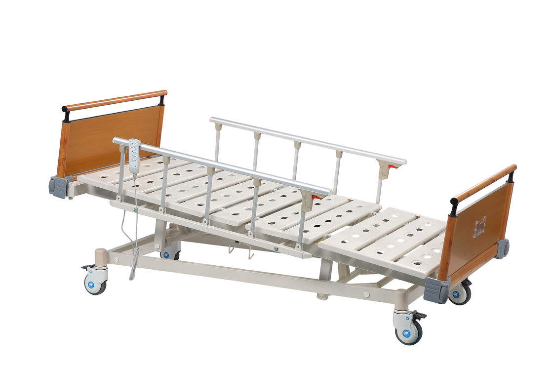 ODM / OEM ICU Medical Hospital Bed With Remote Steel Bedboards For Patient